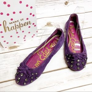 Sam Edelman Fern Flats Purple Rhinestone Shoes